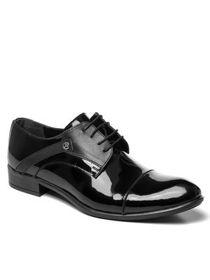 Man's shoes black lacquer OZONEE V/204/19