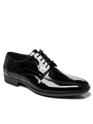Man's shoes black lacquer OZONEE V/3501/19