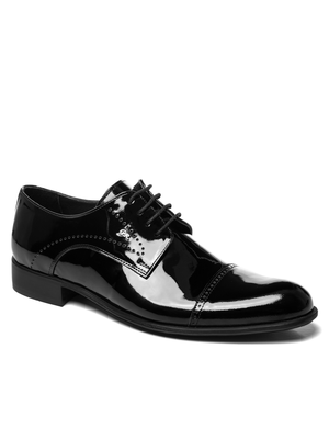 Man's shoes black lacquer OZONEE V/5387/19
