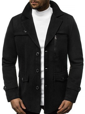 Men's Coat - Black OZONEE N/5920Z