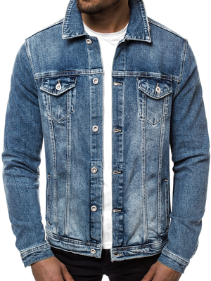 Men's Denim Jacket - Blue OZONEE B/55150