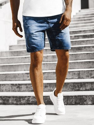 Men's Denim Shorts Blue OZONEE JS/KK107