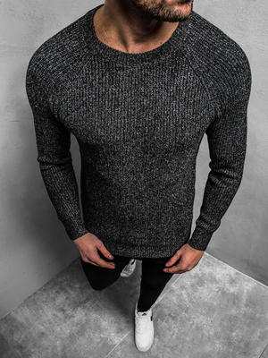 Men's Jumper - Black OZONEE HR/1807Z