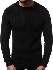 Men's Jumper - Black OZONEE MAD/4370