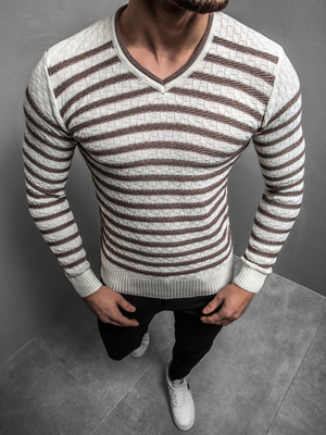 Men's Jumper - Ecru OZONEE O/2029/19Z