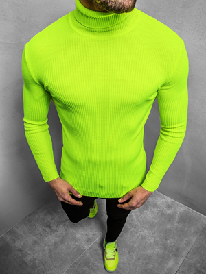 Men's Jumper - Green-neon OZONEE MACH/TRK2001Z