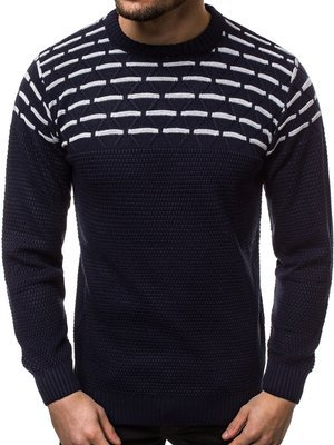 Men's Jumper - Navy blue OZONEE O/2019/19