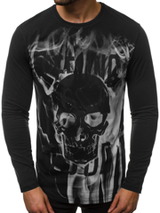 Men's Long Sleeve T-Shirt - Black OZONEE O/1291
