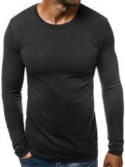 Men's Long Sleeve T-Shirt - Dark grey OZONEE O/1209