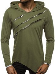 Men's Long Sleeve T-Shirt - Green OZONEE O/1220