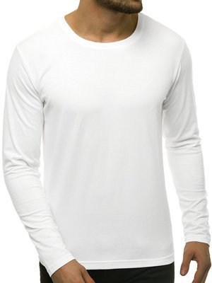 Men's Long Sleeve T-Shirt - White OZONEE JS/CX01