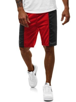 Men's Shorts - Red-Black OZONEE JS/81016