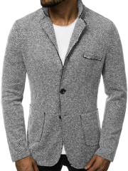 Men's Suit Jacket - Grey OZONEE O/6647