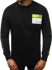 Men's Sweatshirt - Black OZONEE B/40202