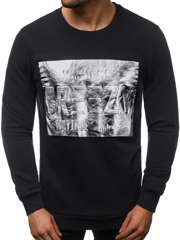 Men's Sweatshirt - Black OZONEE B/56027