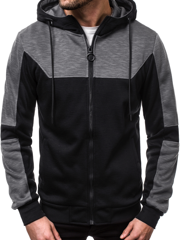 Men's Sweatshirt - Black OZONEE JS/88028