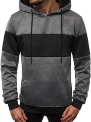 Men's Sweatshirt - Dark grey OZONEE JS/99008