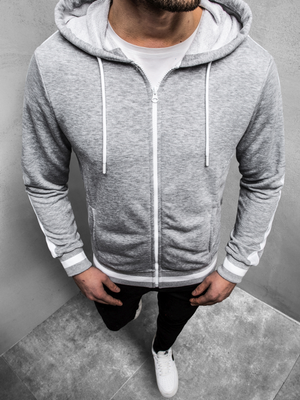 Men's Sweatshirt - Grey OZONEE A/1009Z