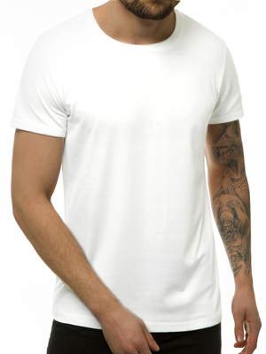 Men's T-Shirt - White OZONEE JS/DX11001