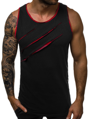 Men's Tank Top - Black-Red OZONEE O/1253