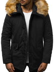 Men's Winter Jacket - Black OZONEE JD/355