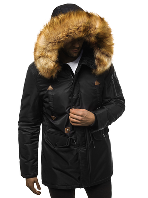 Men's Winter Jacket - Black OZONEE JD/362Z