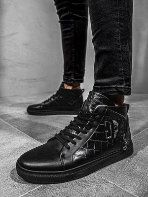 Men's high-top Sneakers Black OZONEE G/224