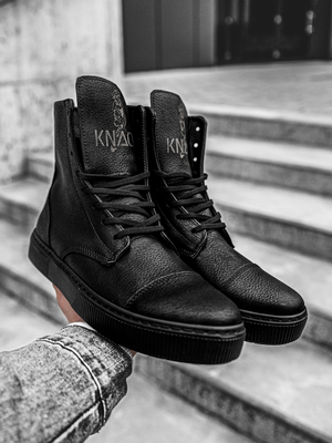Men's high-top Sneakers high Black OZONEE KN/022