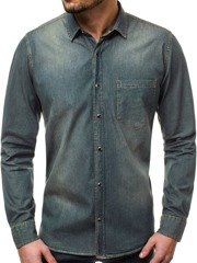 OZONEE ZAZ/1316 Men's Shirt - Dark Blue