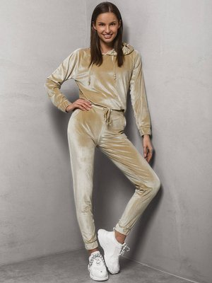 Two-piece tracksuit set Beige OZONEE O/13120