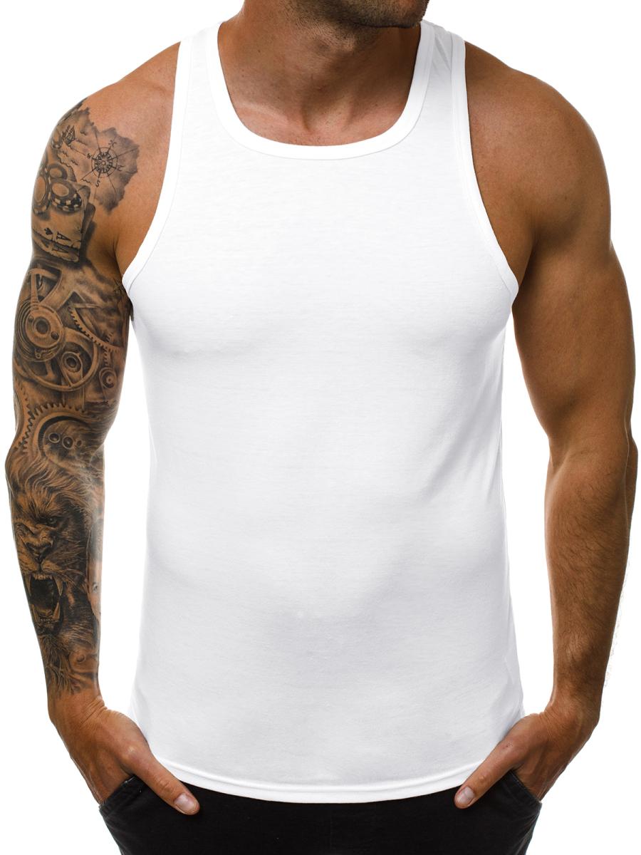 Wonderbaar Men's Tank Top - White OZONEE JS/99003 - Men's Clothing | Ozonee BZ-63