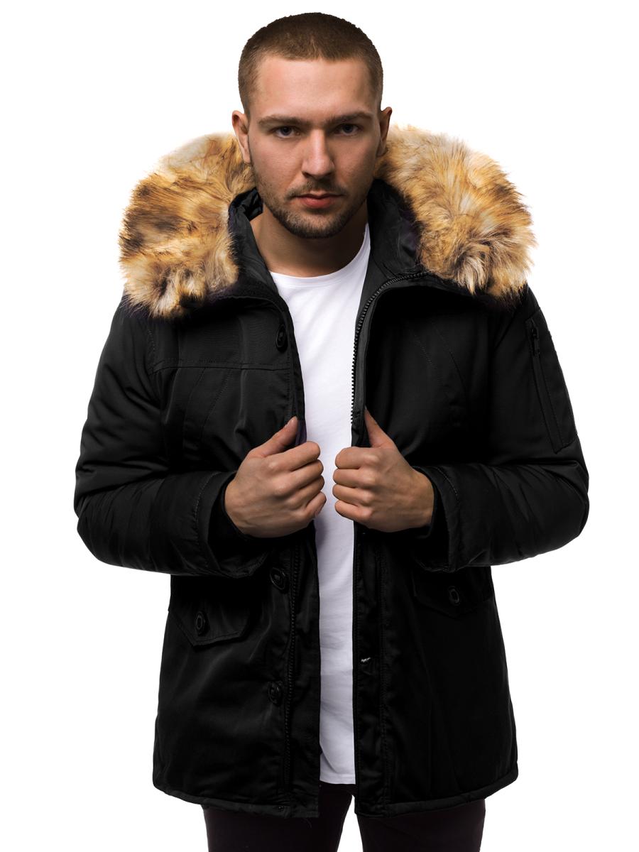 Winter Jacket - Black OZONEE JD/355Z