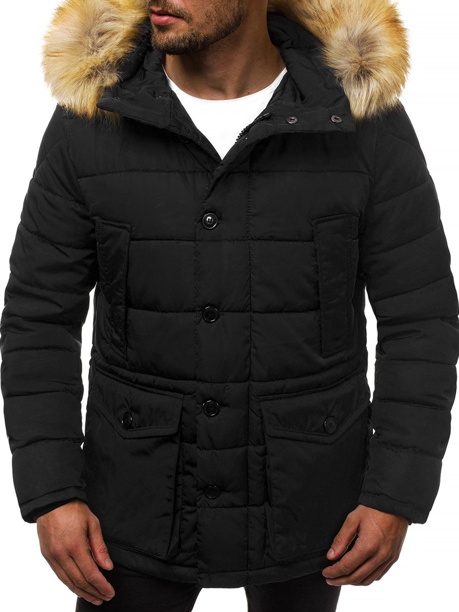 Winter Jacket - Black OZONEE JD/361