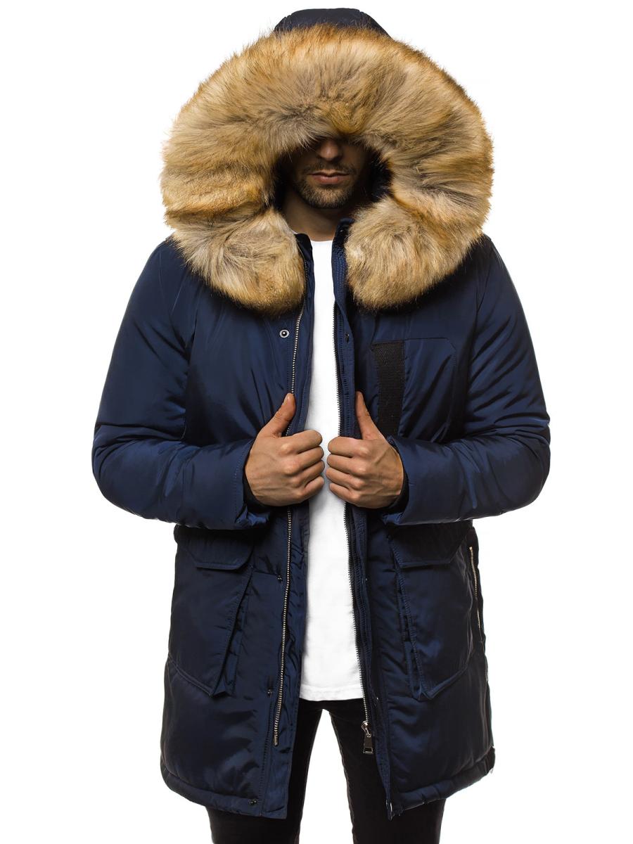 Generatore Deformare Ispezionare  Men's Winter Jacket - Navy blue OZONEE JD/351Z - Men's Clothing | Ozonee