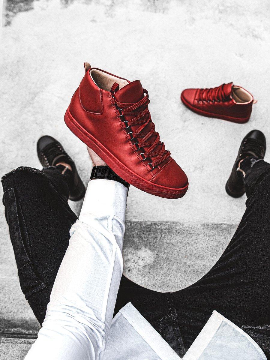red high top sneakers mens
