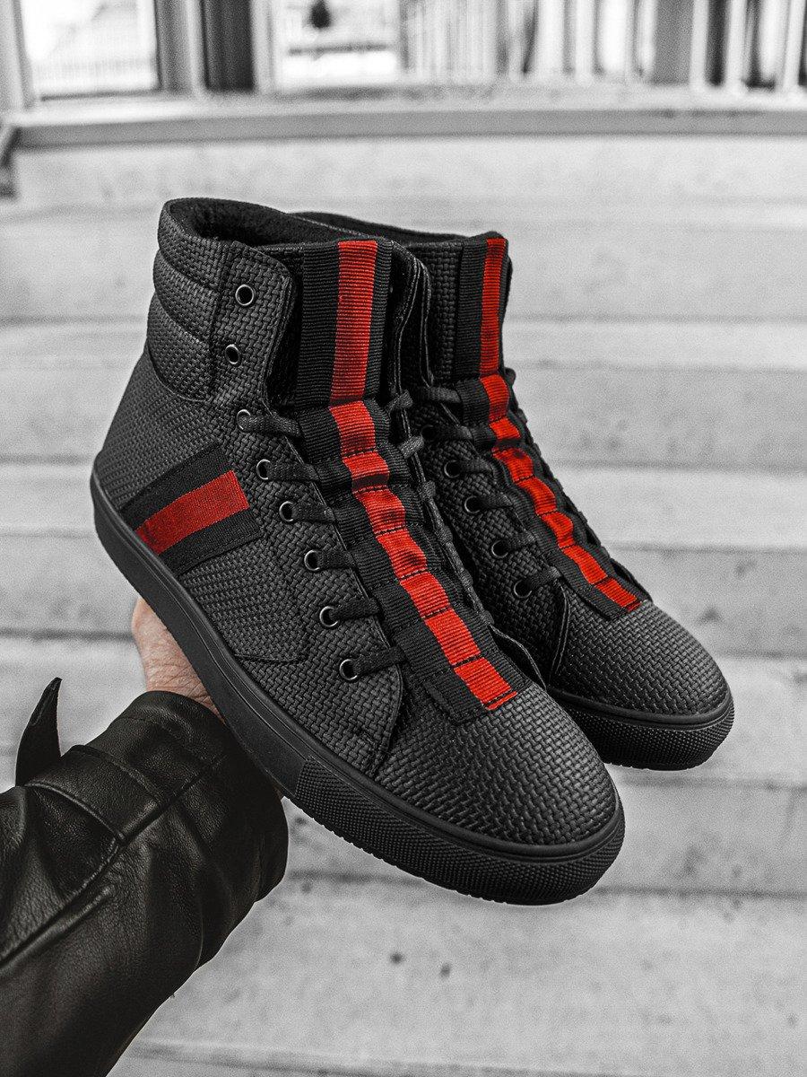 top Sneakers high Black OZONEE G/518