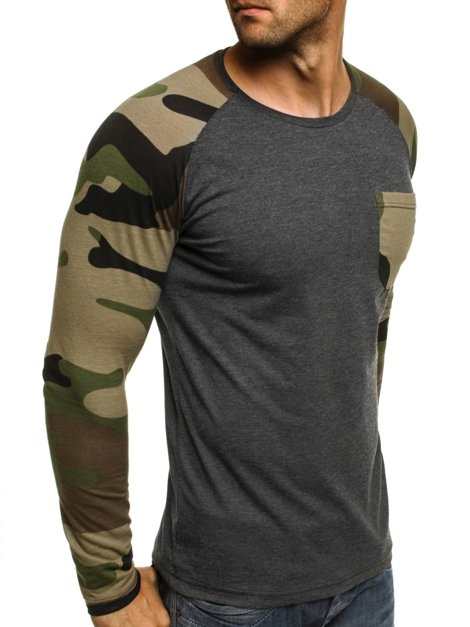 ATHLETIC 1089 Men's Long Sleeve T-Shirt - Dark grey
