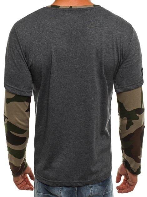 ATHLETIC 1154 Men's Long Sleeve T-Shirt - Dark grey