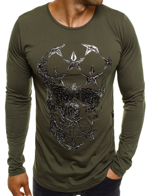 BREEZY 171332 Men's Long Sleeve T-Shirt - Green