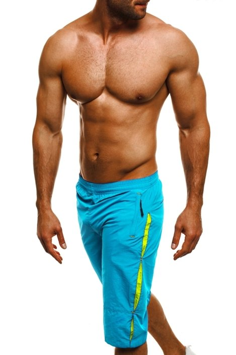HOT RED WK20 Men's Shorts - Turquoise