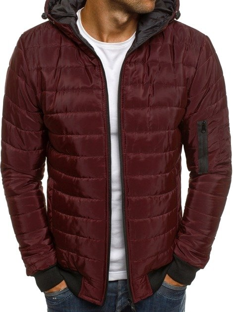 J.STYLE AK85 Men's Jacket - Burgundy
