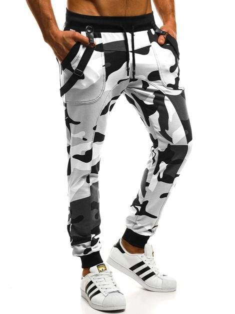 MECHANICH 2042 Men's Sweatpants - Black-White