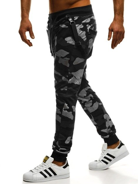 MECHANICH 2042 Men's Sweatpants - Dark grey-Camo