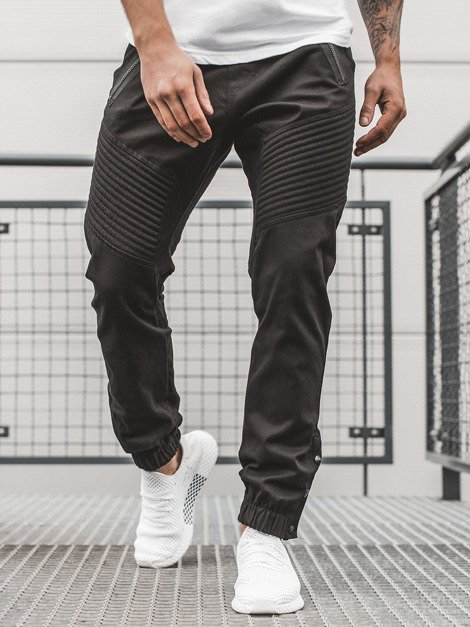 Men's Chino Joggers - Black OZONEE A/0952
