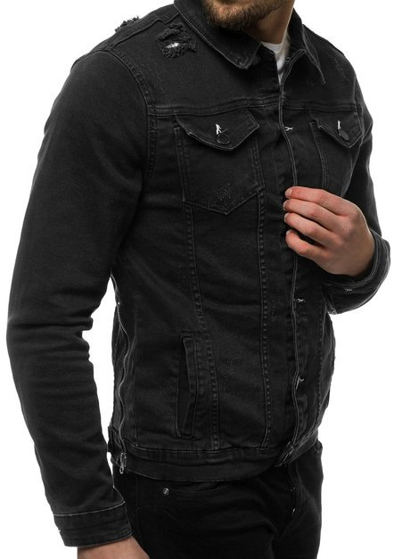 Men's Denim Jacket - Black OZONEE G/602