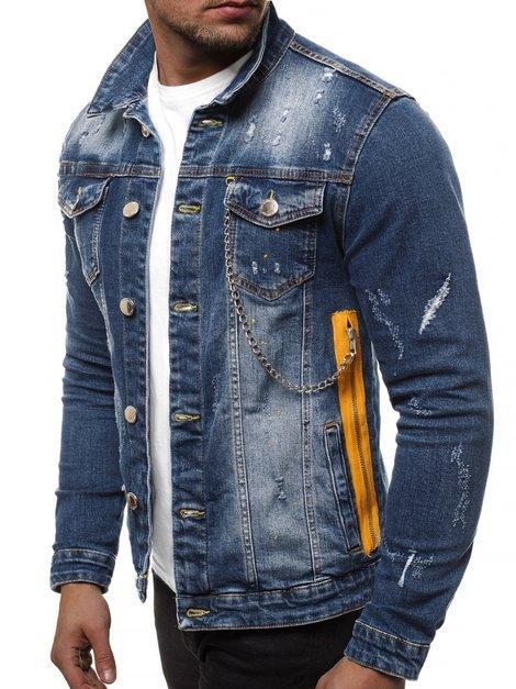 Men's Denim Jacket - Dark Blue OZONEE G/601