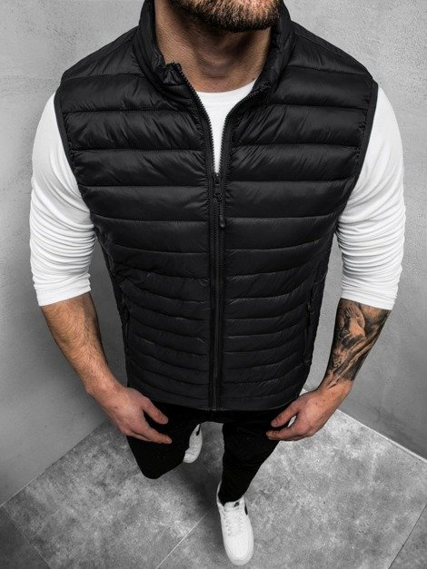 Men's Gilet - Black OZONEE JS/LY32Z
