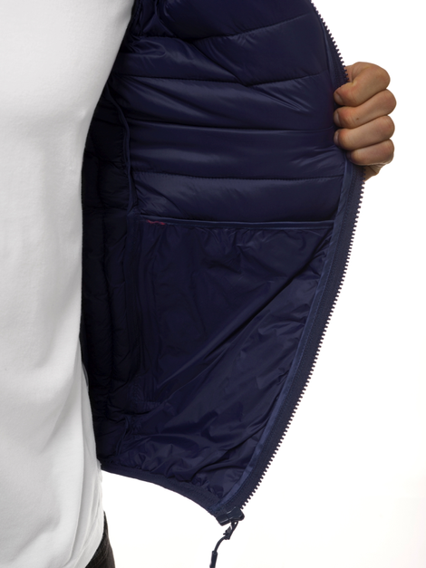Men's Gilet - Navy blue OZONEE JS/LY32Z
