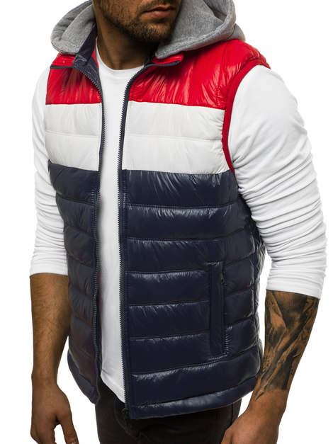 Men's Gilet - Navy blue OZONEE N/6105