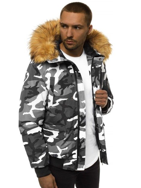 Men's Jacket - Dark grey-Camo OZONEE JS/201901Z